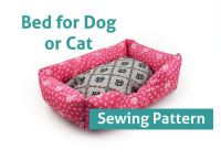 Sewing Pattern - Dog Cat Bed Pattern Pet - 3 Sizes Pillow ...