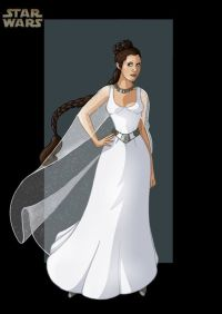 Princess Leia... this could be a wedding dress. Just ...
