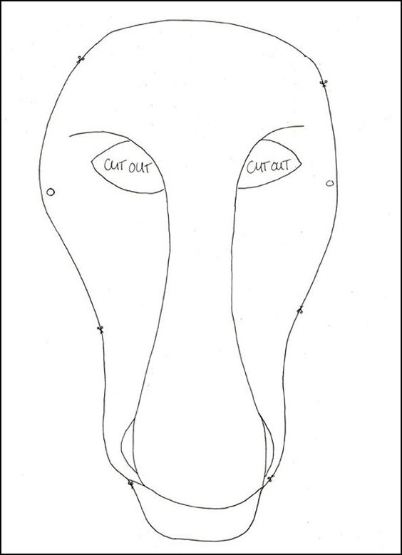 Dress up, Mask template and Horse mask on Pinterest
