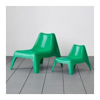 IKEA PS VG Chair, outdoor, white | Green, Ikea ps and Chairs
