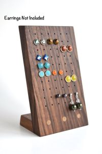 Stud earring holders, Wood earrings and Design on Pinterest