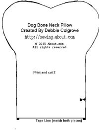 Dogs, Neck pillow and Pillow patterns on Pinterest