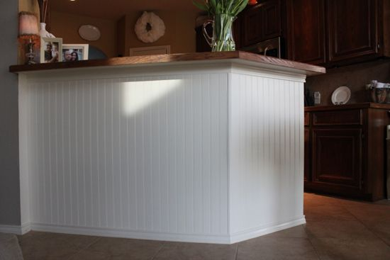 How To Add Beadboard To Kitchen Island She Did This For