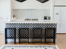 stunning black and white kitchen with a modern ethnic vibe ...