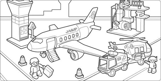 Airports, Coloring and Coloring pages on Pinterest