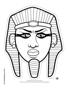 This Egyptian pharaoh mask is perfect for any lesson on