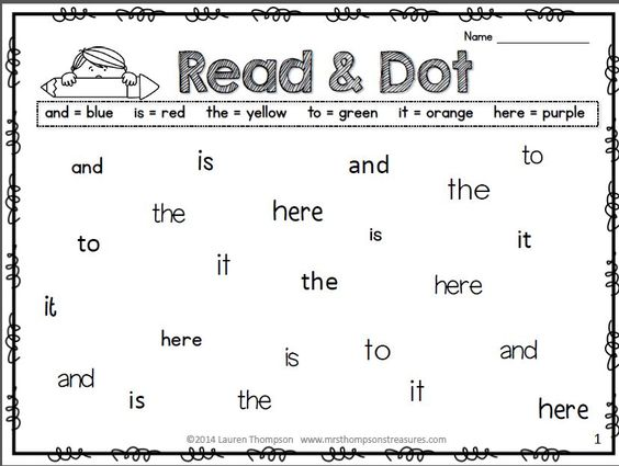 Word reading, Fluency practice and Primer on Pinterest
