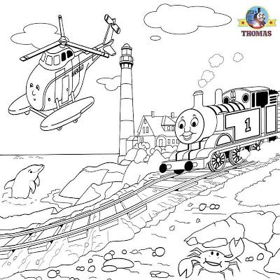 Harold the helicopter Thomas coloring pictures to print