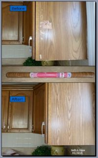 Quick Oak Cabinet Fix With Tiny Budget! | Oak cabinets ...