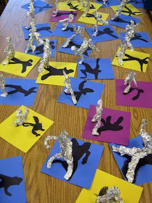 Alberto Giacometti figurative sculptures and shadows: