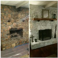 The gallery for --> Whitewash Stone Fireplace