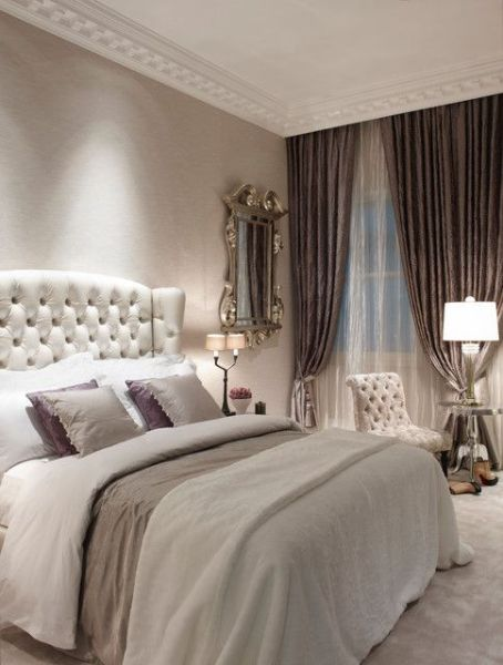 glam feminine bedroom Glam bedroom, Curtains and Bedrooms on Pinterest