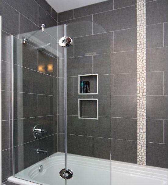 12 X 24 Tile On Bathtub Shower Surround House Ideas Pinterest Tub Shower Combo Tiles For