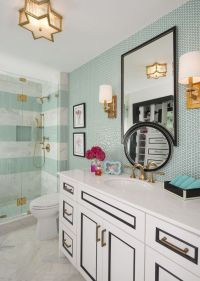 Bathroom, Kate spade and Penny tile on Pinterest