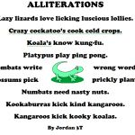 Alliteration, Australian animals and Poem on Pinterest