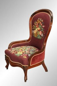 Antique Victorian Needlepoint Lady's Chair Found on ...