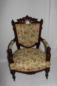Victorian Renaissance Revival John Jelliff Arm Chair with ...
