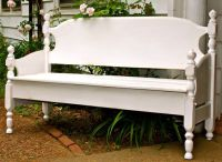 Headboard and footboard turned into bench | Refurbishing ...