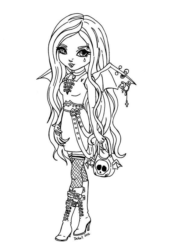gothic bat*jadedragonne on deviantart  colour me