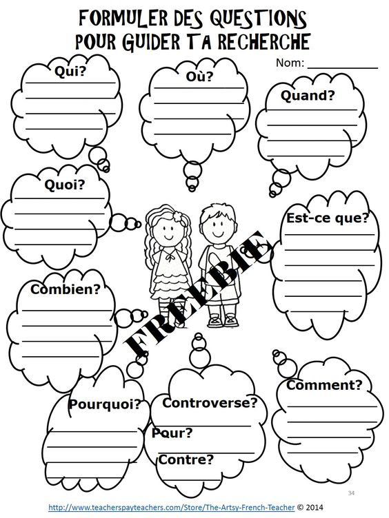 Learning, In french and Activities on Pinterest