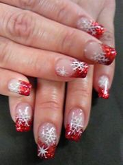 nails snowflakes and xmas