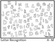 Letter recognition, Colors and A class on Pinterest