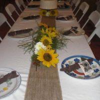 Sunflower table decorations   Creative world   Pinterest ...