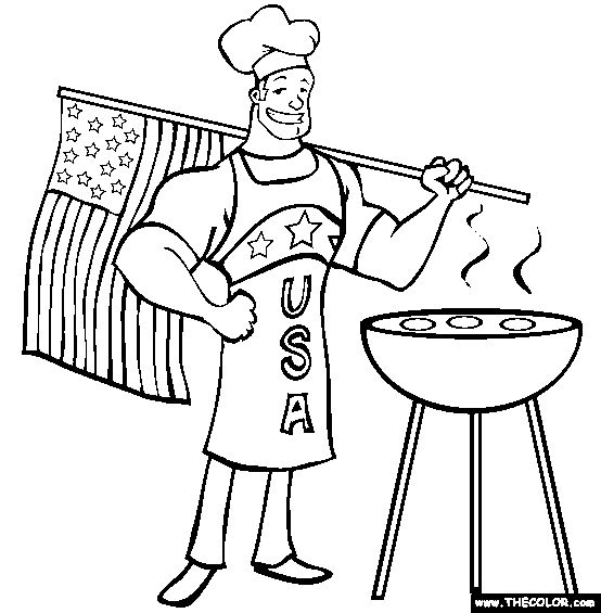 Bbq online, Online coloring and Coloring pages on Pinterest