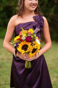 Bouquets, Purple bridesmaid dresses and Fall wedding on ...