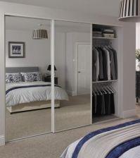 Sliding mirrored wardrobe doors Howden Joinery | closet ...