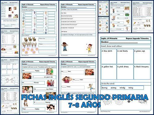 Fichas De Inglés Segundo Primaria 2º Trimestre Recursos