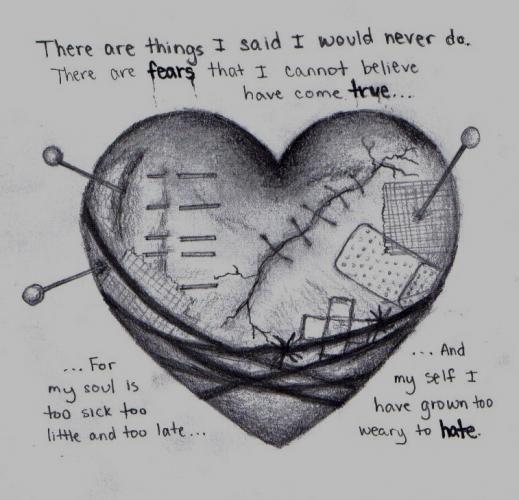 Beautiful, Heartbroken art and Drawings on Pinterest