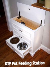 Turn A Dresser Into A Pet Feeding and Care Station: Easy ...