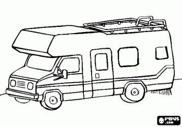 Camper Trailer Coloring Pages : Elegant Gray Camper
