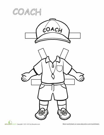 Paper dolls, Worksheets and Coaches on Pinterest