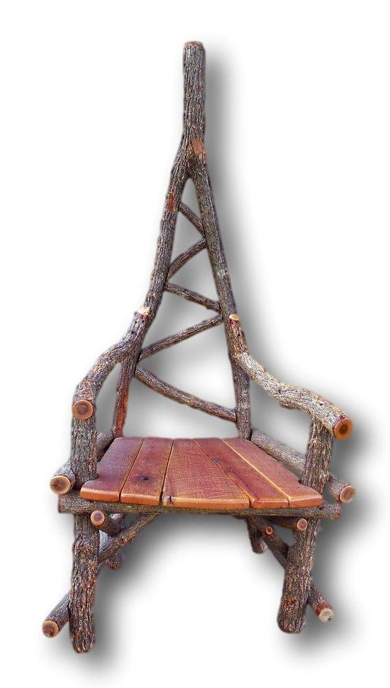 Rustic Furniture, Unique Chair, Arm chair, Sassafras Chair