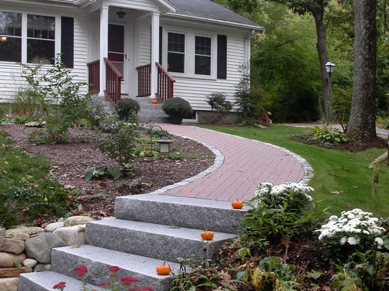 front yards home design and stone