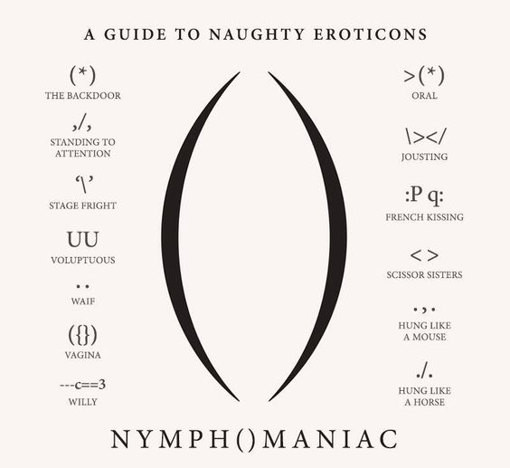 'A Guide to Naughty Eroticons' for Lars von Trier's