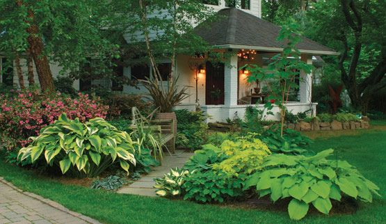 gorgeous front lawn landscaping