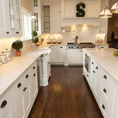 Wood Floors In Kitchen Hape Play White Cabinets With Hardwood Nagpurentrepreneurs Shaker Floor Black