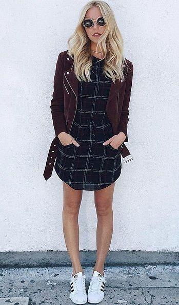 xadrez + jaqueta de couro!: