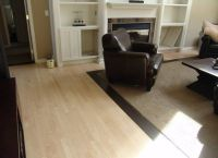 Wood floors with carpet inlay for the den | Crescent Walk ...