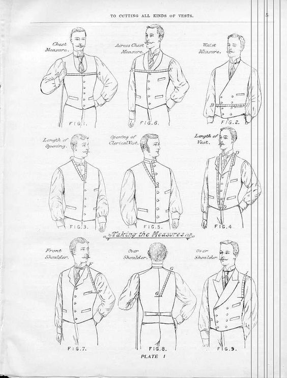 Victorian Tailoring: Waistcoat 1: drafting a pattern
