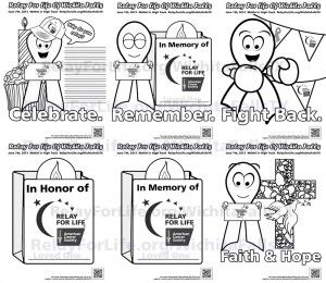 Relay for life, For life and Coloring sheets on Pinterest