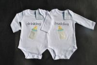 Twin Baby Funny Outfit humorous onesie for twins ...