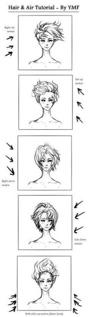 draw hair blowing