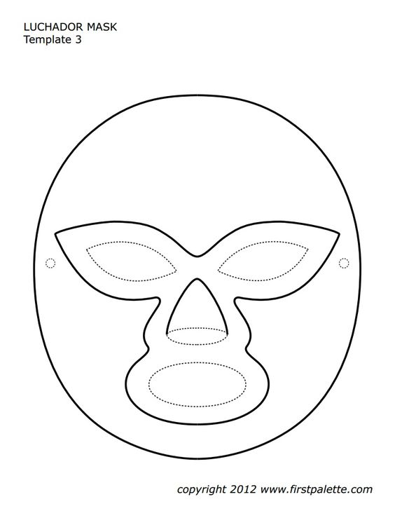 Mask template, Tool box and Printables on Pinterest