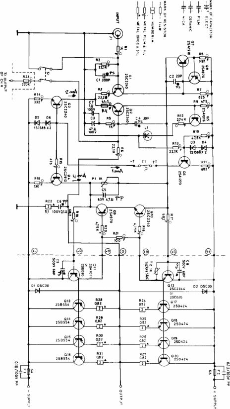 ADCOM 555 Original Schematics for Service-Repair and Parts