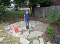 DIY Flagstone patio--good tips for laying crusher and sand ...