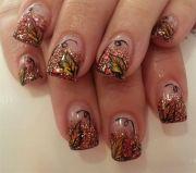 acrylics fall nails and autumn